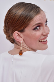 Anna Chlumsky styled her hair in a classic French twist for the Emmys.