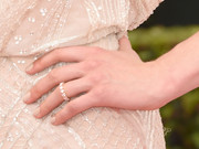 Taylor Schilling sported a Forevermark eternity ring for added sparkle to her embellished gown at the 2014 Emmys.