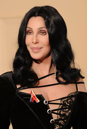 Cher went for a subtle beauty look with nude lipstick and neutral eyeshadow when she attended the Golden Globes.