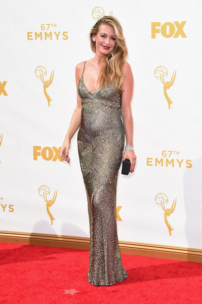 Cat Deeley in Monique Lhuillier, 2015