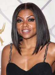 Taraji P. Henson attended the Emmy Awards Fox after-party wearing a perfectly styled graduated lob.