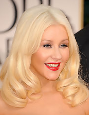 Christina vamped up her Marilyn Monroe look with the perfect shade of red lipstick.