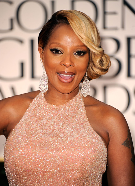 More Pics of Mary J. Blige Side Swept Curls  (1 of 14) - Side Swept Curls  Lookbook - StyleBistro