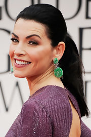 Julianna Margulies wore her hair in a sleek ponytail at the 69th Annual Golden Globe Awards.