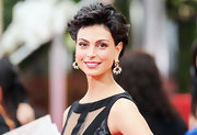 Morena Baccarin wore her short locks in sexy tousled curls at the 69th Annual Golden Globe Awards.
