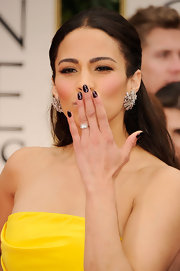 Paula Patton wore a metallic aubergine nail polish at the 69th Annual Golden Globe Awards.