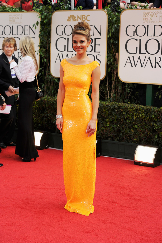 TV personality Maria Menounos arrives at the 69th Annual Golden Globe Awards held at the Beverly Hilton Hotel on January 15, 2012 in Beverly Hills, California.