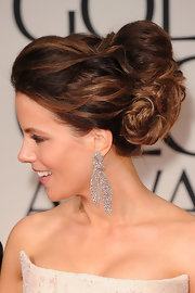 Kate Beckinsale wore her hair in a voluminous pinned-up 'do at the 69th Annual Golden Globe Awards.