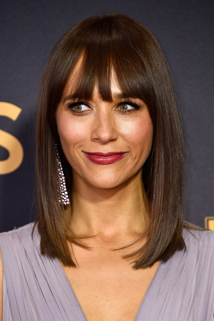 More Pics Of Rashida Jones Medium Straight Cut With Bangs 3 Of 6