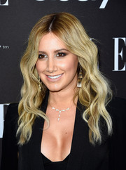 Ashley Tisdale looked pretty with her boho waves at the Elle Women in Music celebration.