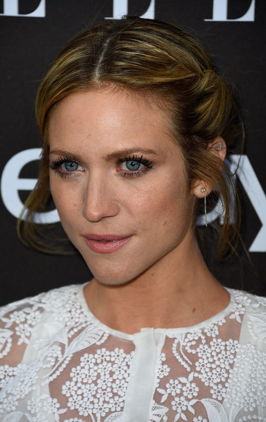 Brittany Snow kept it demure with this rolled bun at the Elle Women in Music celebration.