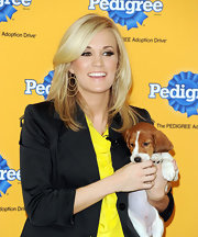 Carrie Underwood opted for a sleek and layered 'do.