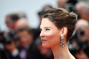 Bianca Balti topped off her look with an elegant French twist for the Cannes Film Festival 70th anniversary event.