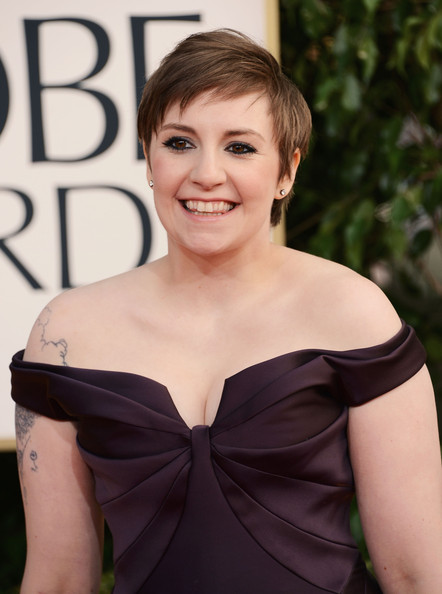 More Pics of Lena Dunham Off-the-Shoulder Dress (1 of 7) - Off-the-Shoulder Dress Lookbook - StyleBistro