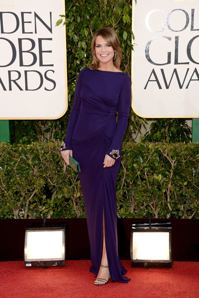 Savannah Guthrie at the 2013 Golden Globes