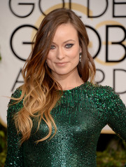 Olivia Wilde's tousled ombre waves at the Golden Globes had an edgy-chic feel.