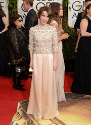 Sally Hawkins was vintage-glam at the Golden Globes in a Dior evening dress with an embellished bodice.