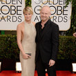 Robin Wright in Reem Acra at the 2014 Golden Globe Awards