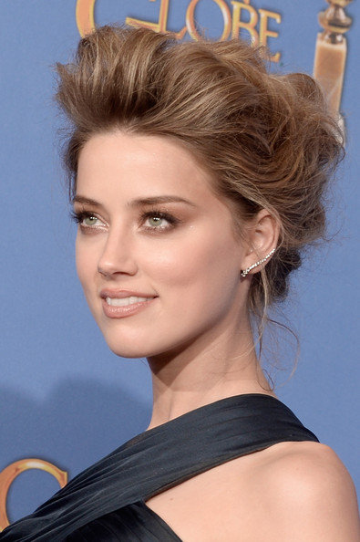 Amber Heard Best Hair And Makeup At The 2014 Golden