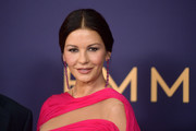 Catherine Zeta-Jones kept it simple with this center-parted chignon at the 2019 Emmy Awards.