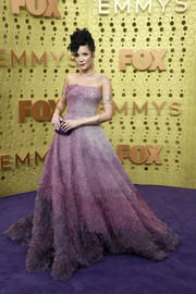 Halsey stunned in a strapless ombre ballgown by Rami Kadi Couture at the 2019 Emmy Awards.