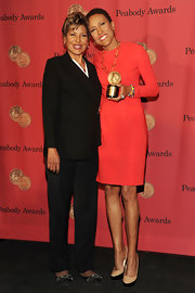 Sally-Ann Roberts looked comfy and cute in her embellished black flats at the George Foster Peabody Awards.