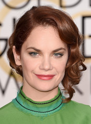 Ruth Wilson went the romantic route with this loosely pinned wavy updo at the Golden Globes.