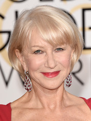 Helen Mirren topped off her Golden Globes look with a simple bob.