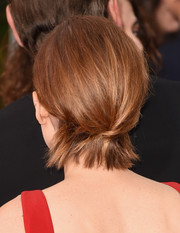 Kate Mara's bobby-pinned 'do at the Golden Globes was an inventive way to style short hair.