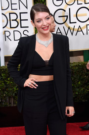 Lorde was dripping with Neil Lane diamonds at the 2015 Golden Globes.
