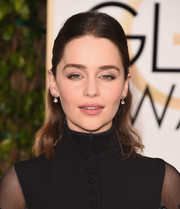 Emilia Clarke opted for a no-frills half-up style when she attended the Golden Globes.