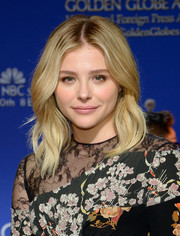 Chloe Grace Moretz was a boho cutie with her center-parted waves at the Golden Globe Awards nominations announcement.