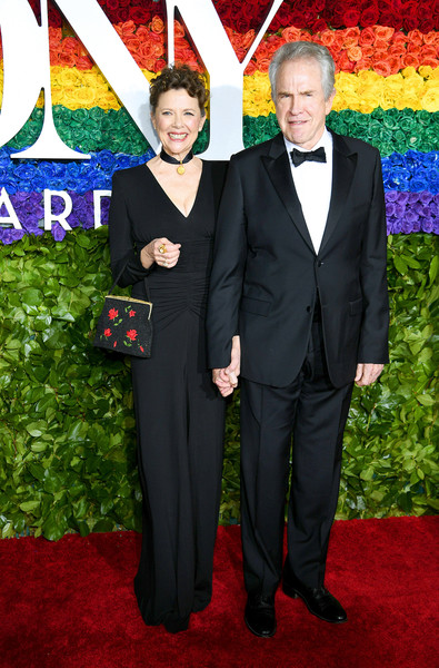 Annette Bening chose a black Michael Kors gown with a ruched midsection for the 2019 Tony Awards.