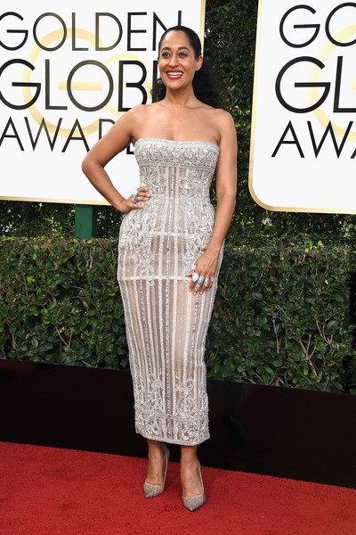 Tracee Ellis Ross in Zuhair Murad at the Golden Globes