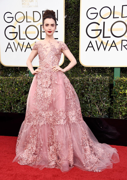 Lily Collins (in Zuhair Murad) as Aurora