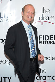Kelsey Grammer's striped blue tie was a bright addition to his ensemble at the Drama League Awards.