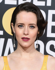 Claire Foy wore her hair in a retro-glam bob at the 2019 Golden Globes.