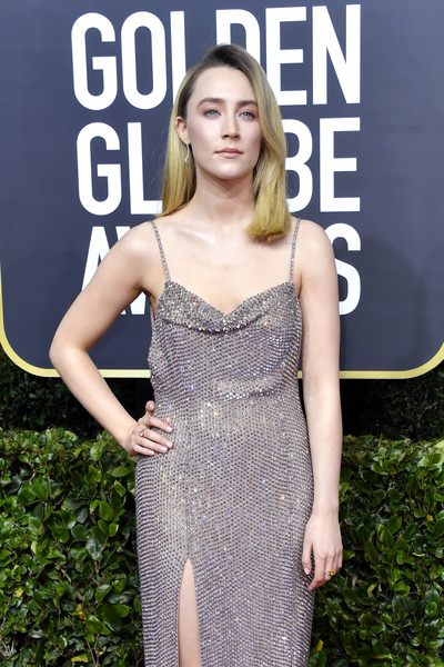 More Pics of Saoirse Ronan Beaded Dress (1 of 11) - Saoirse Ronan Lookbook - StyleBistro [clothing,dress,beauty,premiere,hairstyle,shoulder,fashion,carpet,red carpet,cocktail dress,arrivals,saoirse ronan,the beverly hilton hotel,beverly hills,california,golden globe awards,saoirse ronan,76th golden globe awards,beverly hills,red carpet,the grand budapest hotel,actor,celebrity,photograph,television,lady gaga]