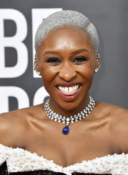 Cynthia Erivo rocked a silver-dyed 'do at the 2020 Golden Globes.