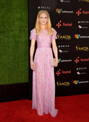 Nicole Kidman oozed sweetness wearing this puff-sleeved pink print gown by Carolina Herrera at the AACTA International Awards.