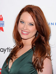 Melissa Archer attended a benefit with her hair styled in long layered locks.