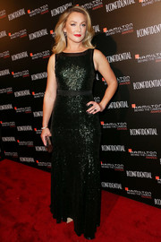 Elisabeth Rohm stepped up the glamour in a beaded black evening dress during the Hamilton Behind the Camera Awards.