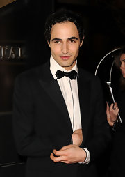 Zac Posen showed off his satin bowtie while walking the red carpet at a New York event.