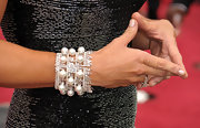 Kathy wore a pearl embellished bangle bracelet to the 82nd Annual Academy Awards.
