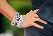 Mariska wore stunning diamond bracelets to the 82nd Annual Academy Awards.