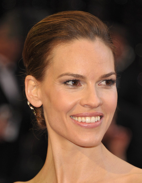 More Pics of Hilary Swank Chignon (1 of 56) - Hilary Swank Lookbook - StyleBistro
