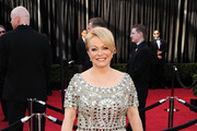Jacki Weaver Dons a Sophisticated Updo at the Oscars