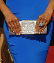 Shaun Robinson kept her tips low key at the 2011 Academy awards with flesh tone polish.
