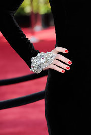 Maria definitely brought the bling to the 2011 Academy Awards with a gemstone embellished cuff bracelet.
