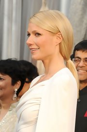 Gwyneth Paltrow wore her hair in a low loose ponytail at the 84th Annual Academy Awards.